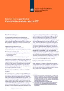thumbnail of IGZ brochure-Calamiteiten en Incidenten en Complicaties-20-12-2016-5e_tcm294-380415